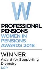 Professional Pensions Women in Pensions Award for Supporting Diversity 2018