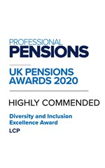 Professional Pensions Diversity & Inclusion Excellence Award 2020
